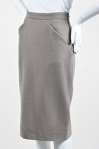 Givenchy Wool Side Zip Skirt Taupe