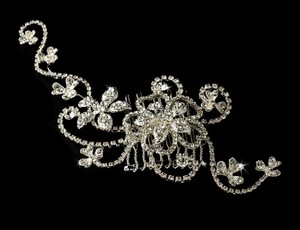 Rhinestone Couture Vine Wedding Bridal Comb