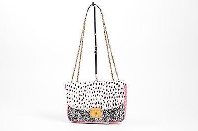 Item - Chain Pink Black Snakeskin Mini Polly Flap Multi-color Shoulder Bag