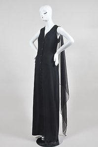 Black Maxi Dress by Jean-Paul Gaultier Jean Paul Gaultier Wool And Silk Chiffon Shirt Gown
