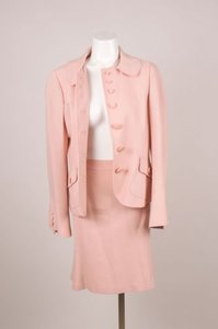 Moschino Moschino Cheap And Chic Light Pink Stich Detail Skirt Suit 108