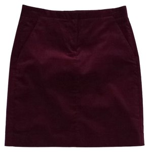 Theory Plum Corduroy Skirt