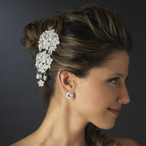 Beautiful Vintage Swarovski Crystal Floral Wedding Bridal Comb