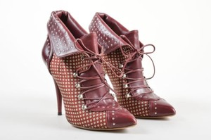 Tabitha Simmons Leather Red Boots