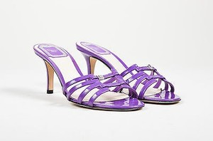 Dior Christian Patent Leather Purple Sandals