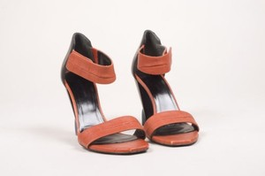 Balenciaga Burnt Black Orange Sandals