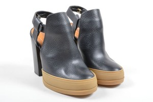 Chloé Chloe Leather Platform Black Boots