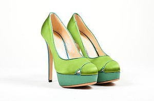 Charlotte Olympia Teal Green Platforms