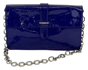 Furla Blue Patent Leather Clutch