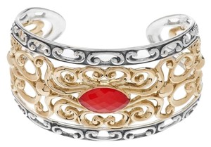 Carolyn Pollack Carolyn Pollack Sterling/Brass Red Coral Doublet Cuff