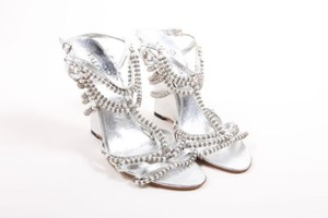 Valentino Metallic Silver Sandals