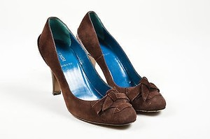 Fendi Decollette Suede Brown Pumps