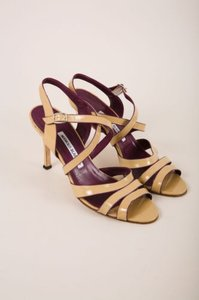 Manolo Blahnik Strappy Patent Leather High Heel Sandals