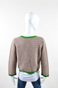 PAULE KA Green Crochet Sweater
