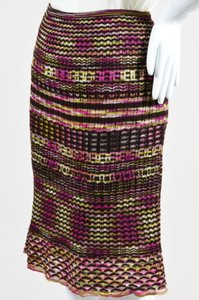 M Missoni Brown Pink Green Wool Skirt Multi-Color