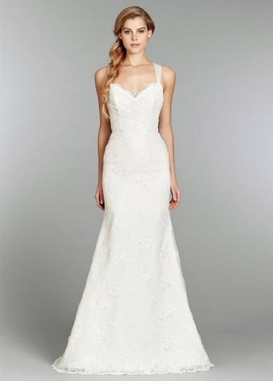 Blush by Hayley Paige Ivory Lace and English Net 1351- Clementine Wedding Dress Size 6 (S)