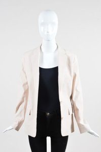 Acne Studios Acne Blush Pink Linen Tailored Long Sleeve Blazer Jacket