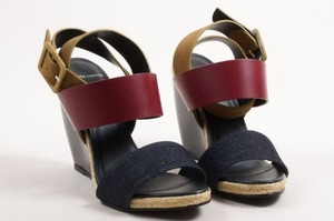 Pierre Hardy Maroon Brown Multi-Color Sandals