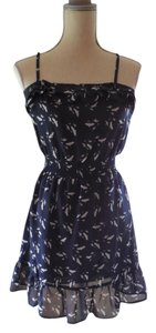 Macy's short dress Summer Navy Blue Birds on Tradesy