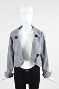 Moschino Jeans Cream Navy Blue Jacket