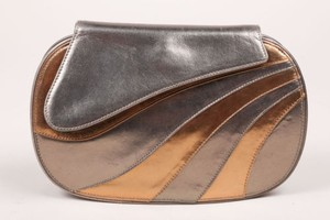 Barbara Bolan Gold Pewter Clutch