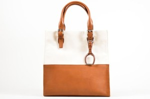 Ralph Lauren Tan Canvas Tote in Brown