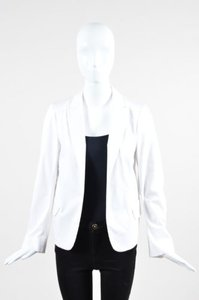 Jil Sander Jil Sander White Tailored Open Front Long Sleeve Blazer Jacket