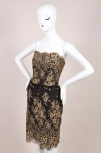 Carolina Herrera Black Gold Dress