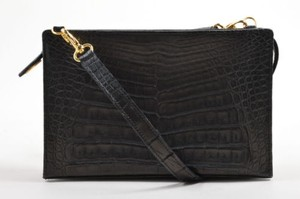 LANA MARKS Crocodile Cross Body Bag
