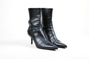 Helmut Lang Leather Black Boots