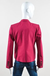 Gucci Gucci Pink Red Stretch Cotton Long Sleeve Double Breasted Blazer Jacket
