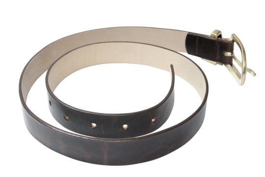 Streets Ahead Streets Ahead Brown Leather Oval Buckle Belt Style: 12677 USA Made-Small/Medium