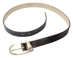 Streets Ahead Streets Ahead Brown Leather Oval Buckle Belt USA Made-Medium/Large
