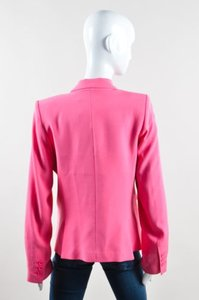 Alice + Olivia Alice Olivia Pink Knit Elyse One Button Blazer Jacket