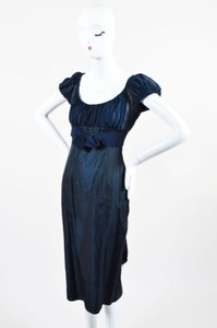 Giambattista Valli Navy Silk Dress