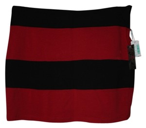 Miss Majesty Striped Mini Mini Skirt Red/Black