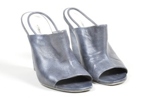 Marsll Marsell Leather Stacked Gray Pumps
