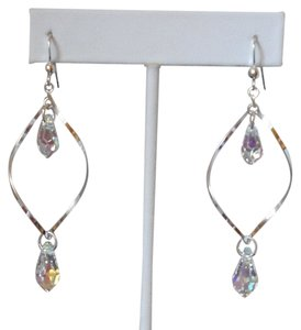 Denali Sterling Silver and Swarovski Crystal Earrings