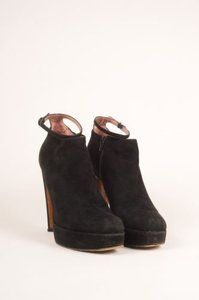 ALAA Alaia Suede Leather Black Boots