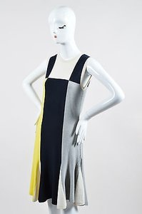 Chanel short dress Multi-Color Yellow Navy Blue And Gray Cotton And Cashmere Blend Sleeveless Knit on Tradesy
