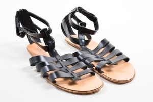 Kokka Leather Gladiator Black Sandals