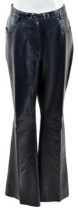 Louis Feraud Lambskin Leather Pants
