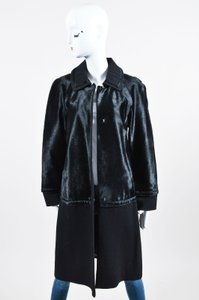 Alberta Ferretti Wool And Sheep Hair Below The Knee Length Coat