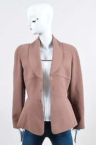 Thierry Mugler Vintage Wool Long Sleeve Tailored Blazer Brown Jacket