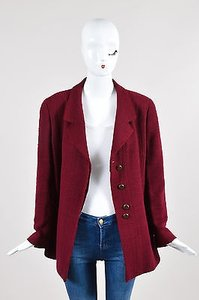 Chanel Boutique Burgundy Red Pink Jacket