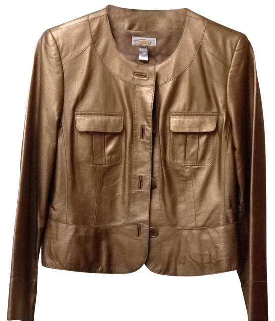Item - Burnished Gold Leather Jacket Size 8 (M)