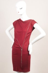 Stella McCartney Burgundy Knit Sleeveless Dress
