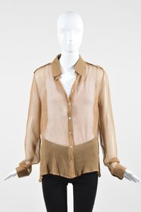 Max Mara Light Sheer Top Brown