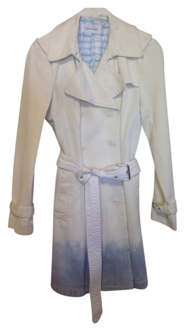 Item - White and Blue Ombre Coat Size 4 (S)