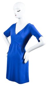 Lisa Perry Royal Wool V Dress
